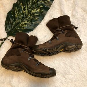 Merrell Women's Brown Boots 9 Forecast Tug Leather